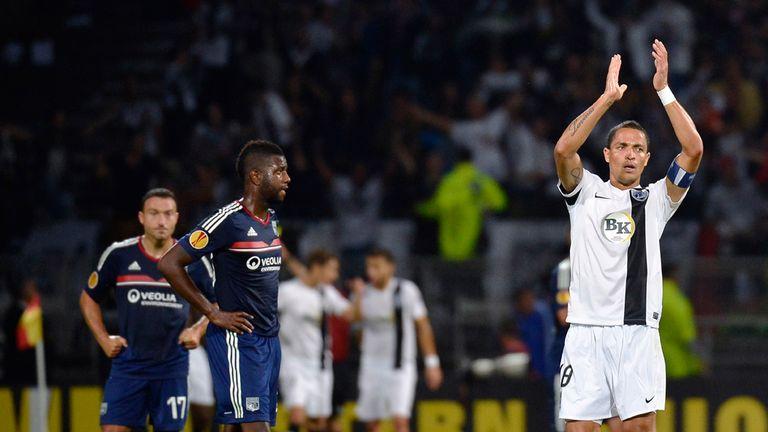 Leonel Olimpio: Celebrates Guimaraes' draw at Lyon