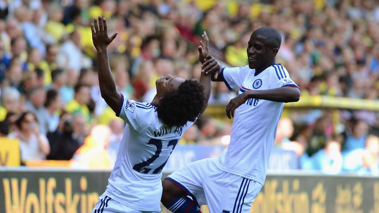 Willian: Netted his first goal for Chelsea in victory over Norwich