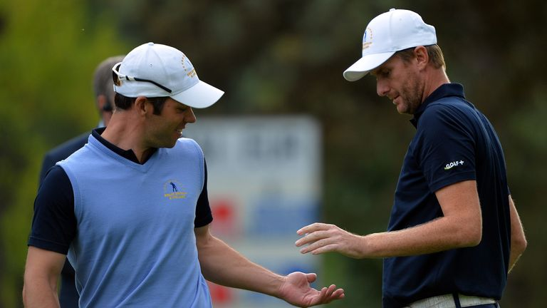 Paul Casey and David Lynn: Secured crucial win in the final match to tie the contest at 9-9