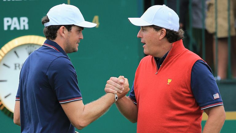 Bradley with best Ryder Cup buddy Mickelson