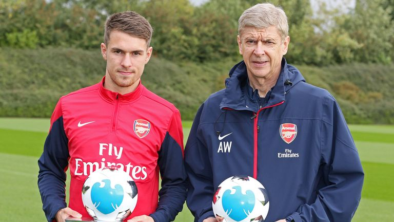 Aaron Ramsey and Arsene Wenger: Awards winners