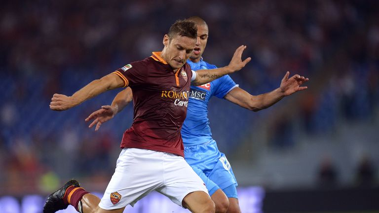 Francesco Totti in action for Roma.