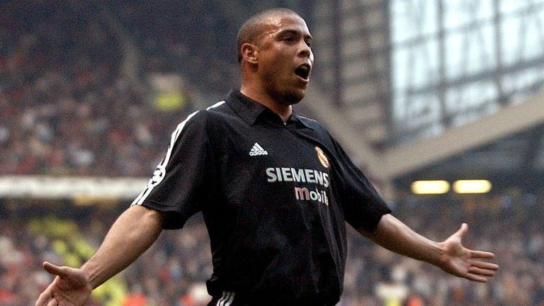Ronaldo scored a hat-trick against Manchester United 14 years ago
