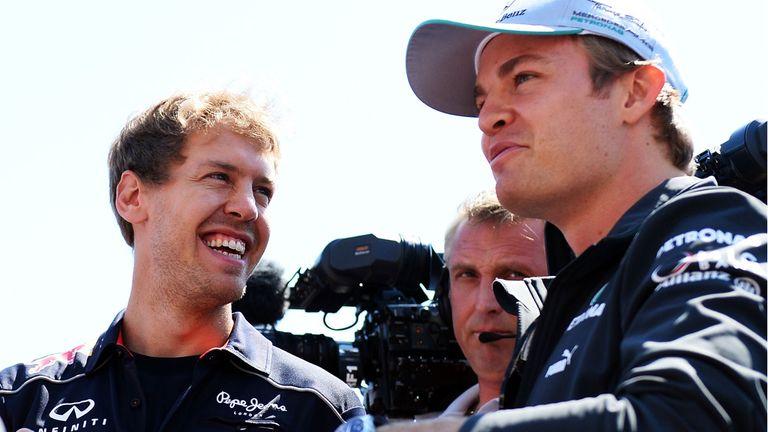 Sebastian Vettel and Nico Rosberg