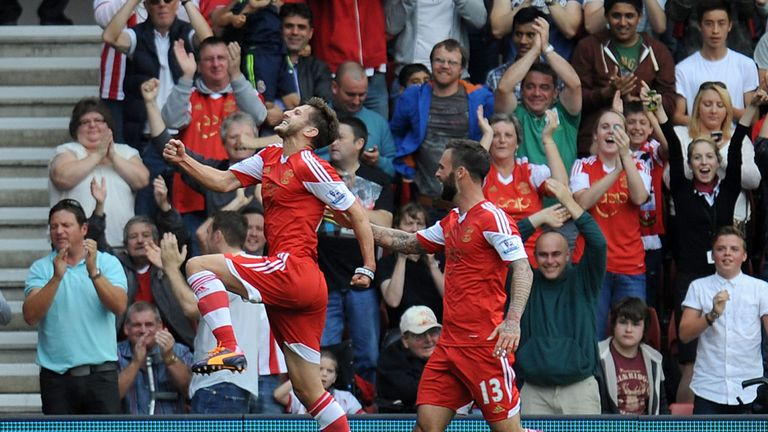 Adam Lallana: Celebrates goal for Southampton