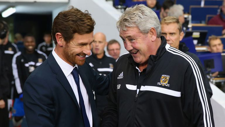 Steve Bruce (r): Hull City boss fined by the FA for comments following Tottenham defeat
