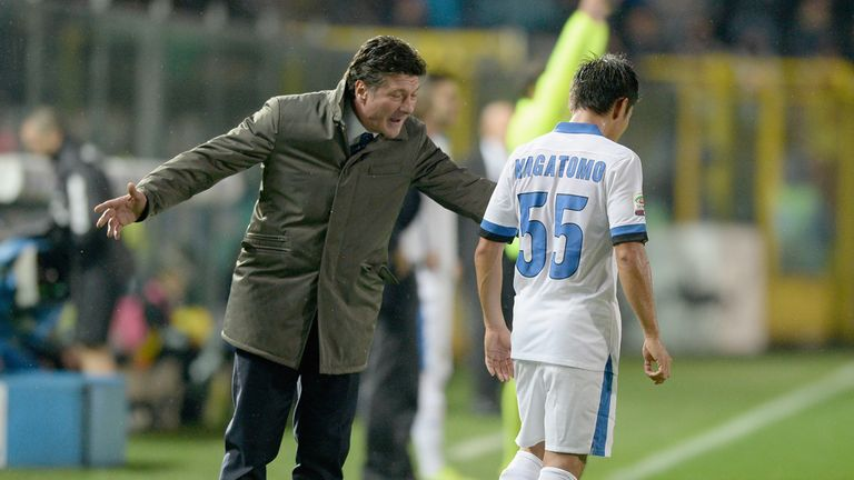 Walter Mazzarri: Has a moan during Inter Milan's draw at Atalanta