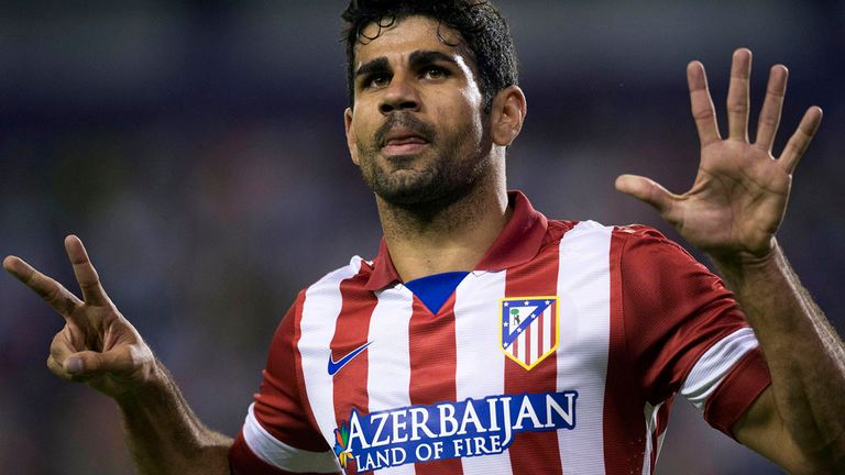 Diego Costa: can't stop scoring for Atletico Madrid