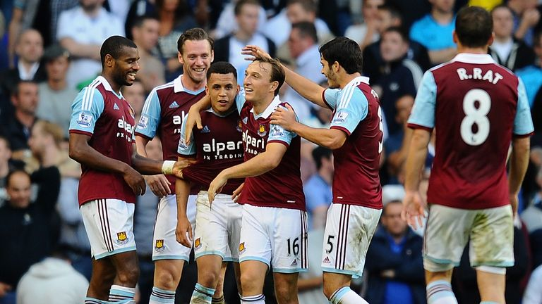Ravel Morrison celebrates his goal for West Ham at White Hart Lane