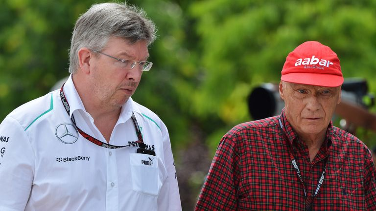 "Niki Lauda says Ross Brawn is only ""50-50"" to stay with Mercedes"