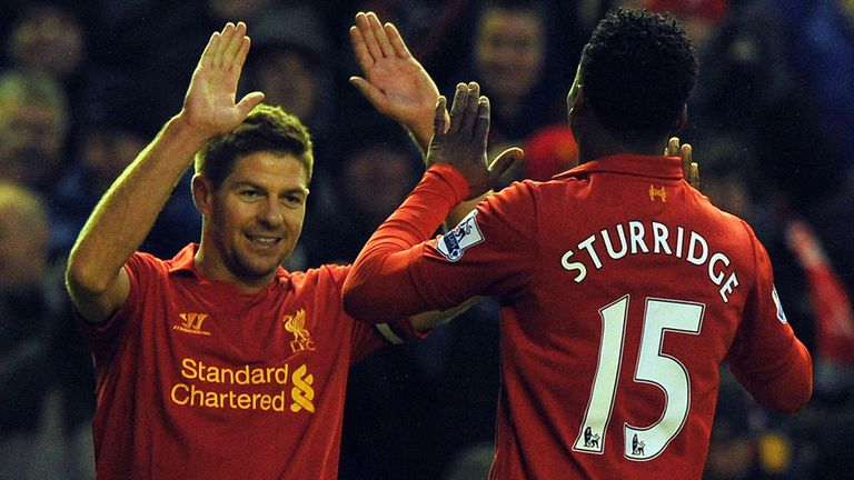 Gerrard and Sturridge: Already linking up well at club level