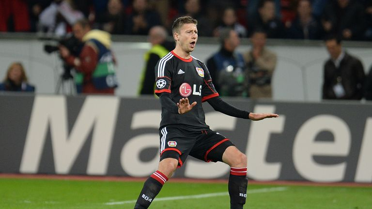 Jen Hegeler: Bagged a stunning free-kick at the death for Bayer Leverkusen
