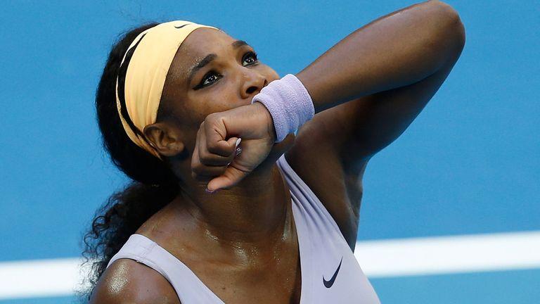 Serena Williams celebrates victory over Francesca Schiavone