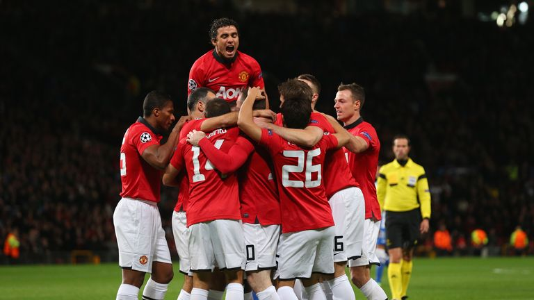 Manchester United: Celebrate their opening goal at Old Trafford