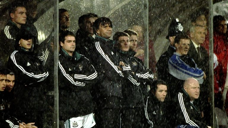 Ruud Gullit and Alan Shearer watch on as Newcastle lose to Sunderland.