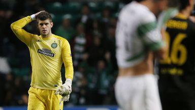 Fraser Forster: Celtic goalkeeper could not prevent his side crashing out of Europe