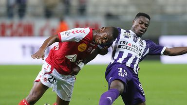 Floyd Ayite (L): Reims striker 'untransferable'
