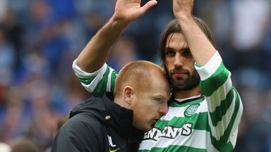 Neil Lennon and Georgios Samaras: Look set to part company this summer