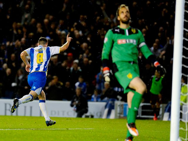 Crofts gets Brighton level at the Amex Stadium