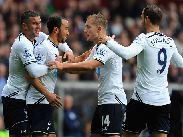 Townsend is congratulated after the opening goal