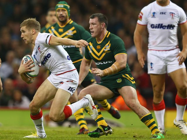 Sam Tomkins in possession for England