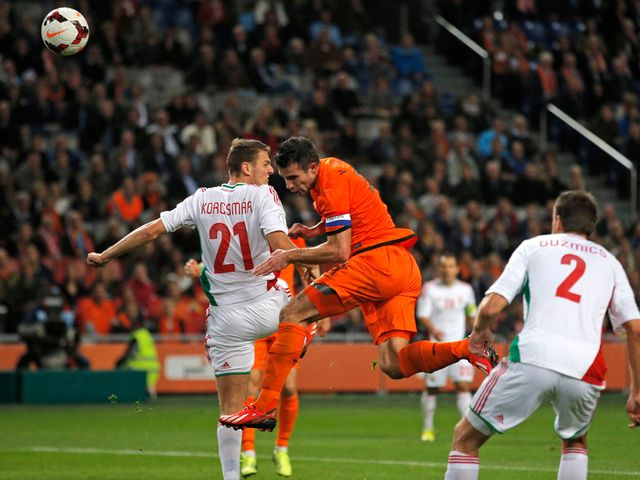 Robin van Persie: With his first for the Netherlands