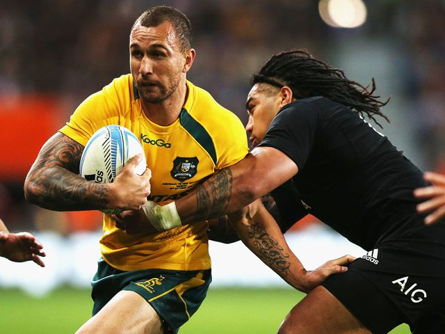 Quade Cooper couldn't prevent Australia slipping to defeat