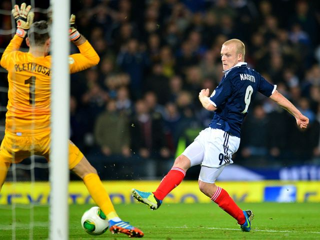 Steven Naismith scores Scotland's second goal