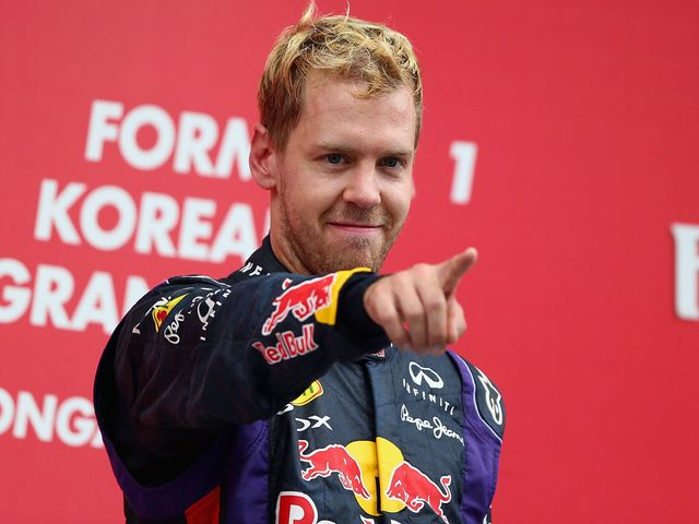 Vettel celebrates his latest success