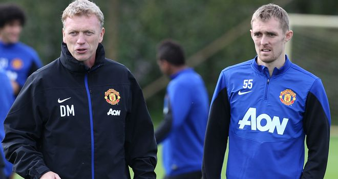 Darren Fletcher: With United boss David Moyes