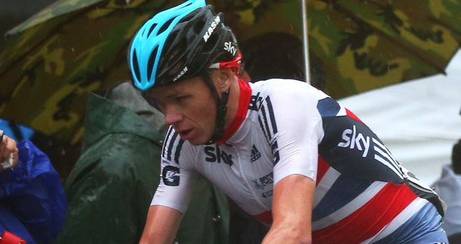 Chris Froome struggled with the injury during last weekend's world championship road race
