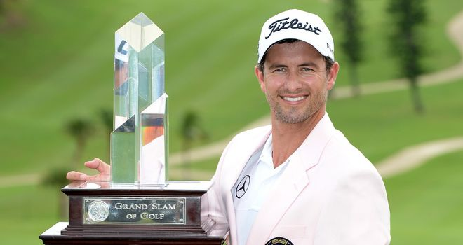 Adam Scott: Adds the pink jacket to the green one who claimed at Augusta back in April