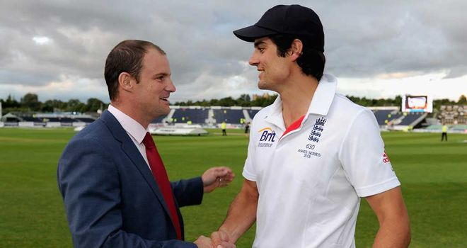 Alastair Cook (R): Finds filling Andrew Strauss' boots tiring at times