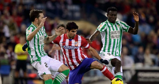 Diego Costa in action for Atletico Madrid.
