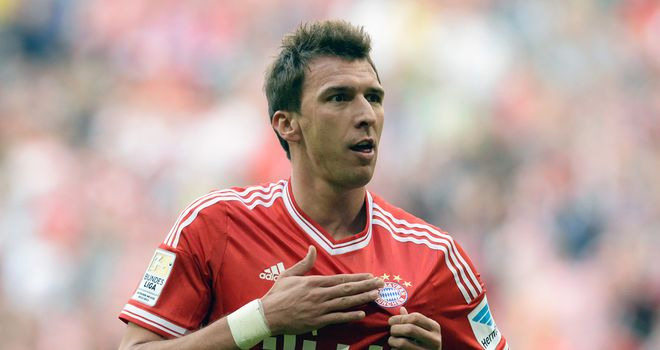 Mario Mandzukic: Celebrates after scoring for Bayern Munich