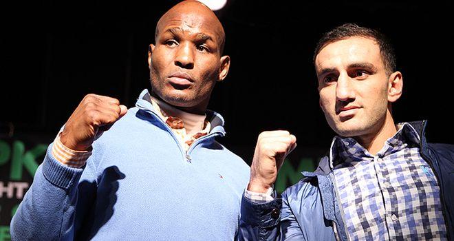 Bernard Hopkins (L): Will defend his IBF light-heavyweight against Karo Murat
