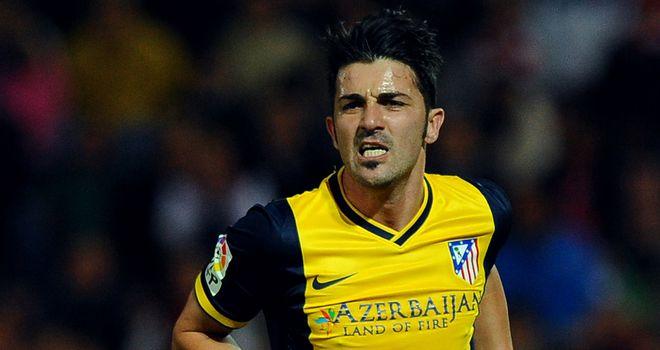 David Villa celebrates.