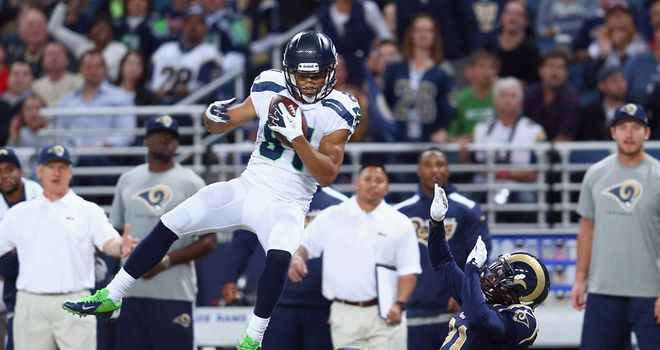 Golden Tate: Bagged two touchdowns for victorious Seattle Seahawks