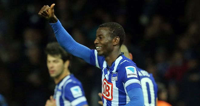 Adrian Ramos celebrates after scoring the only goal