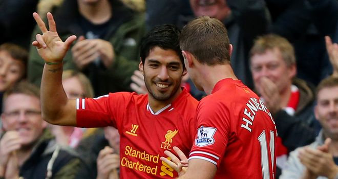 Luis Suarez: Scored a superb hat-trick