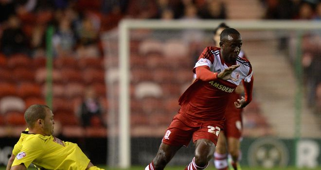 Albert Adomah: On the scoresheet for Middlesbrough