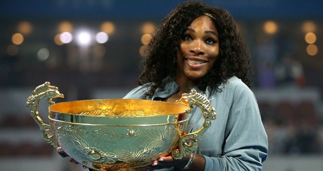 Serena Williams: Raced past Jelena Jankovic in Beijing