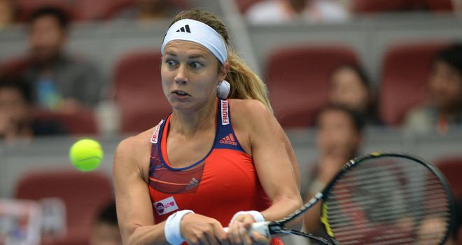 Stefanie Voegele: a win away from her first WTA final