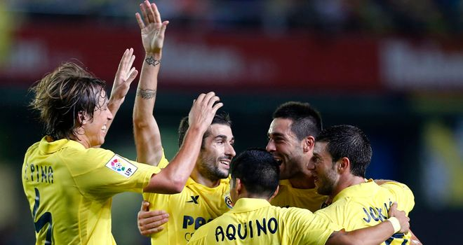 Villarreal celebrate against Granada