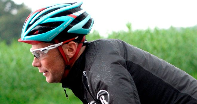 Chris Horner was one of many riders who crashed in the wet conditions