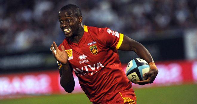 Wandile Mjekevu: scored two of Perpignan's four tries