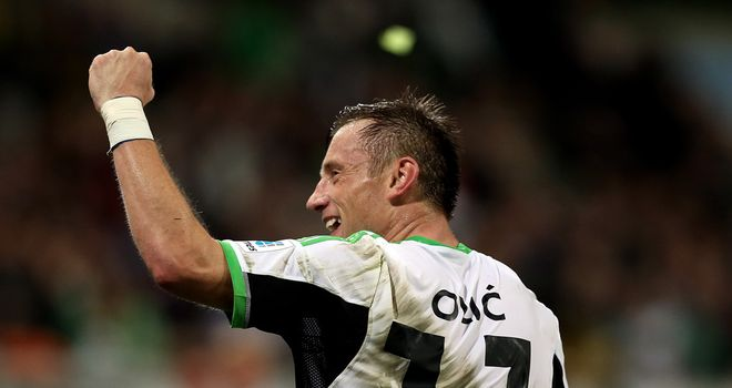 Ivica Olic: Wolfsburg forward celebrates