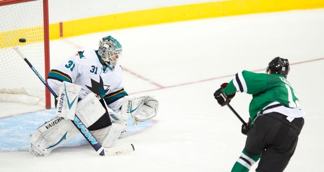 Alex Chiasson (R): Shootout strike led the Stars past the Sharks