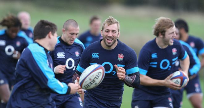 Chris Robshaw: England skipper enjoys a joke during training