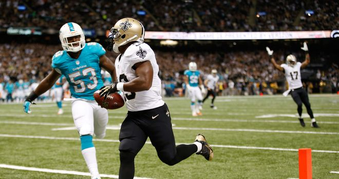 Darren Sproles: Scored two touchdowns and finished with 114 receiving yards